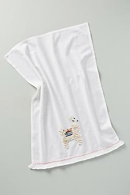 Slide View: 1: Cozy Llama Dish Towel