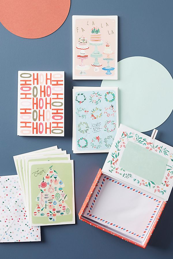 Holiday greeting cards box set anthropologie slide view 1 holiday greeting cards box set m4hsunfo