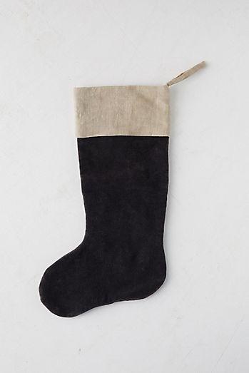 velvet linen stocking