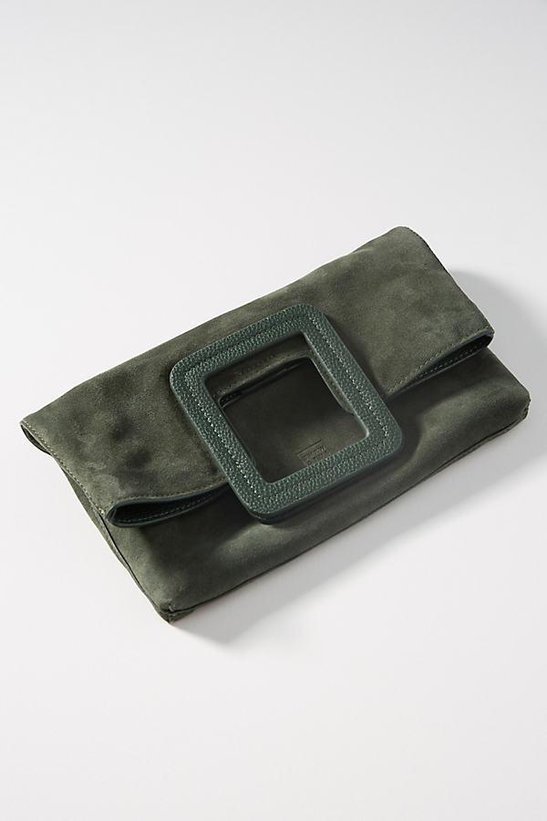 Milo Foldover Clutch - Green