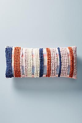 Slide View: 1: Tufted Stripe Pillow