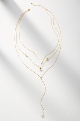 Florette Layered Y Necklace by Anthropologie