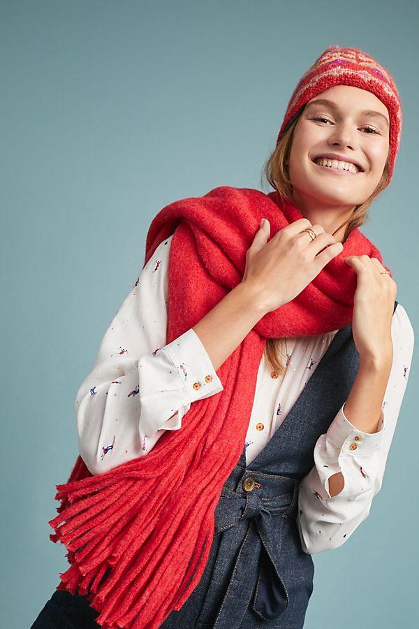 Slide View: 1: Cozy Blanket Scarf