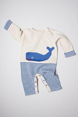 Slide View: 1: Estella Organic Whale Baby Romper