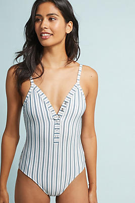 Slide View: 1: Seafolly Striped One-Piece Swimsuit