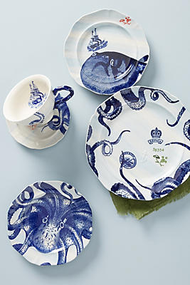 Slide View: 4: From The Deep Dinner Plates, Set of 4