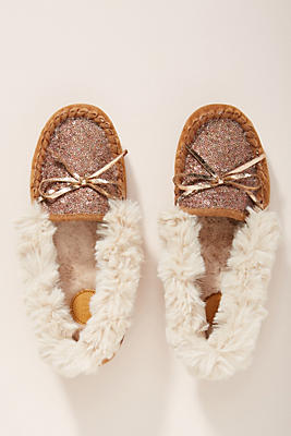 Slide View: 1: Far Away From Close Sequined Moccassin Slippers