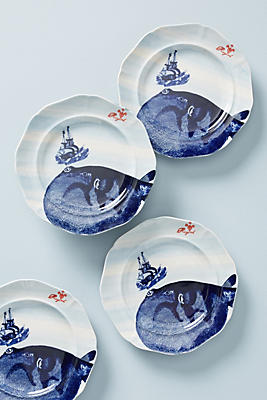 Slide View: 1: From The Deep Dessert Plates, Set of 4