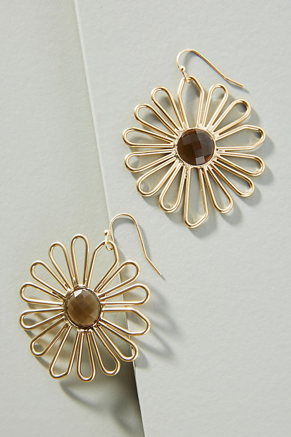 Daisy Drop Earrings - Gold
