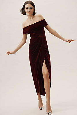 Slide View: 1: Edison Velvet Dress