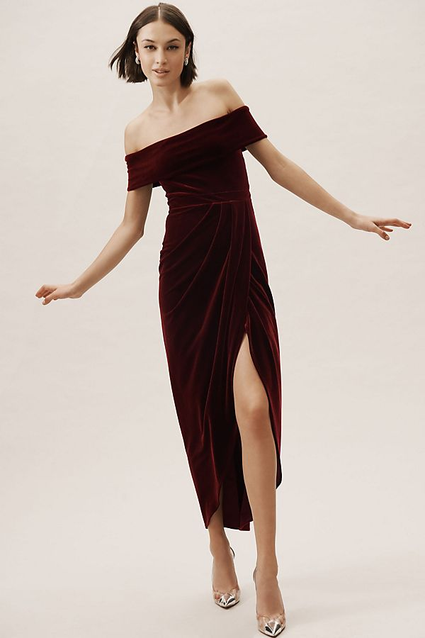 Slide View 1 Edison Velvet Dress