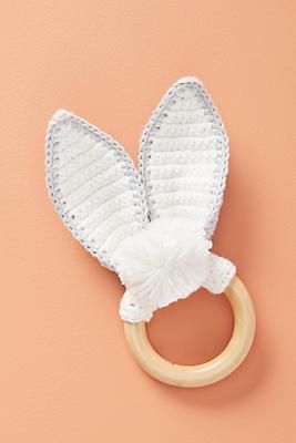 Slide View: 1: Bunny Ears Teether