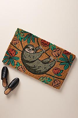Slide View: 1: Sloth Doormat