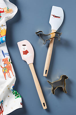 Slide View: 2: Libby VanderPloeg Dashing Dog Spatula & Cookie Cutter Set