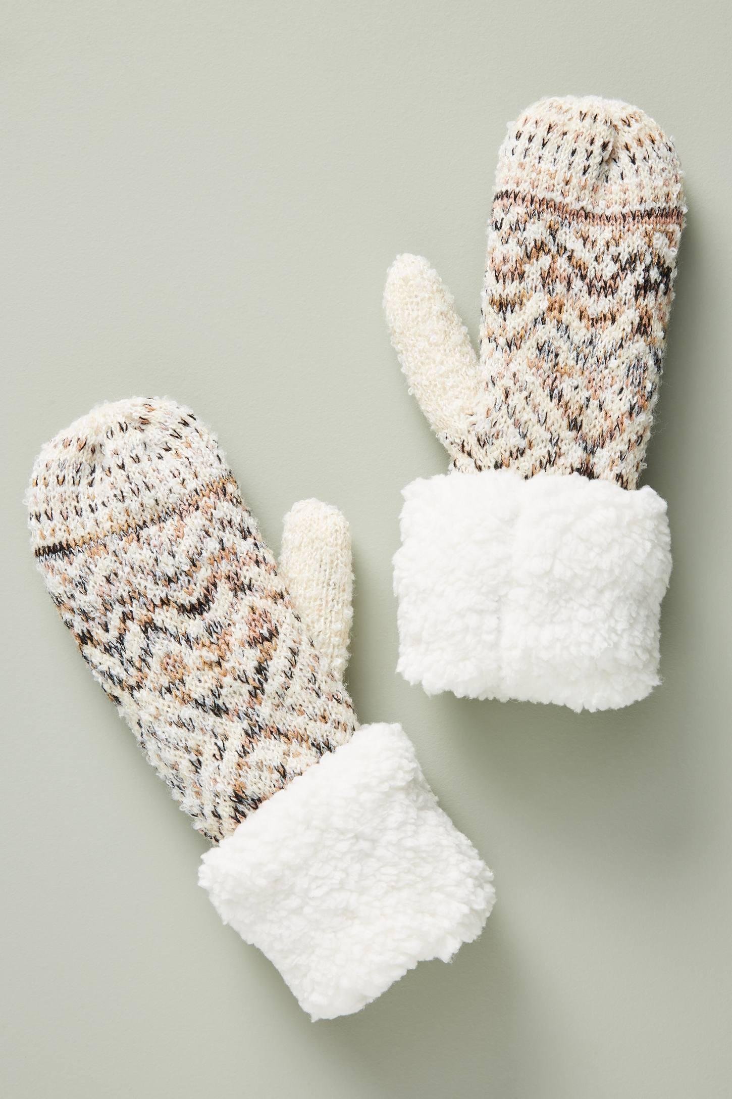 Sherpa Fair Isle Mittens | Anthropologie