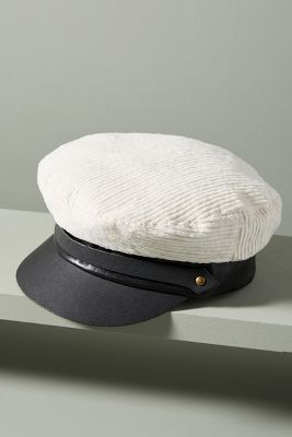 Maltese Corduroy Engineer Cap by Lola Hats