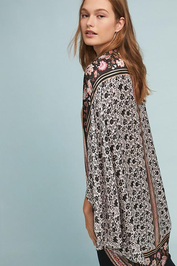 Kachel Mirrored Floral-Silk Kimono - Assorted