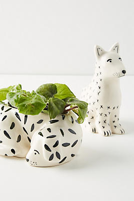 Slide View: 2: Megan Burke Ceramic Dog Pot