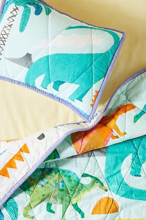 Slide View: 4: Natasha Durley Dinosaur Dreams Kids Quilt