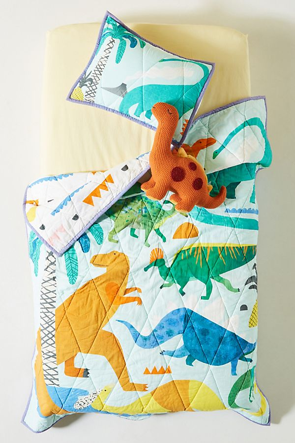 Slide View: 5: Natasha Durley Dinosaur Dreams Kids Quilt