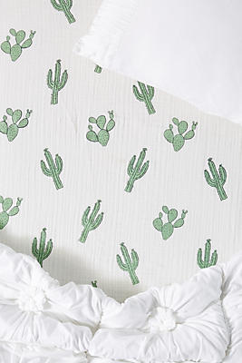 Slide View: 1: Nature Printed Crib Sheet