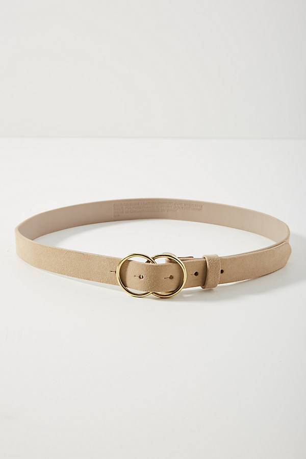 Double-Ringed Belt - Beige, Size M