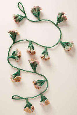 Slide View: 1: Floral Vine Garland