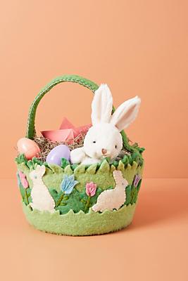 Slide View: 1: Felted Wool Easter Basket