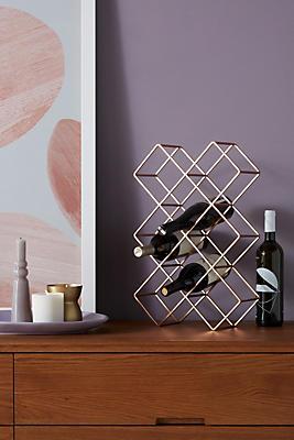 Slide View: 1: Geometric Wine Rack