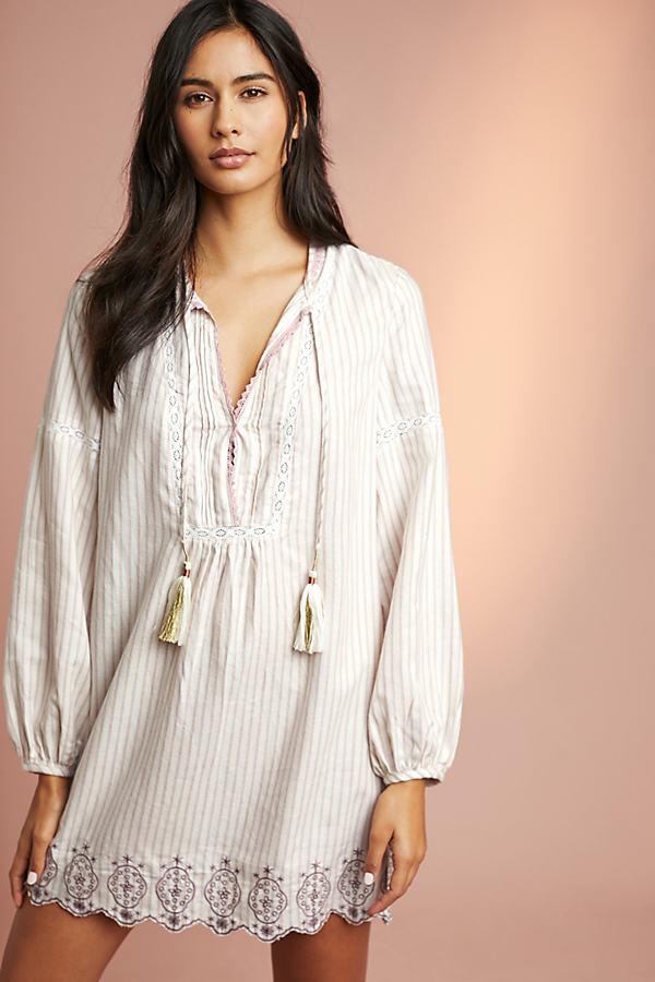Floreat Tasselled-Embroidered Sleep Dress - Assorted, Size S