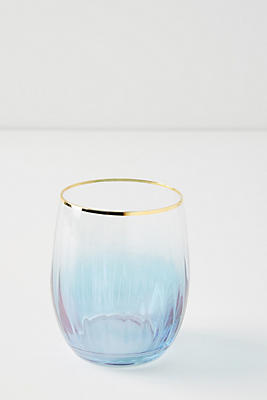 Purple Waterfall Stemless Wine Glass by Anthropologie