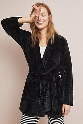 Slide View: 1: Cloth & Stone Belted Chenille Cardigan