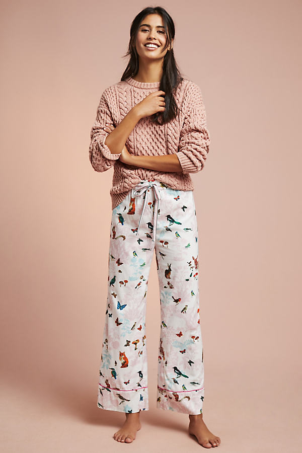Daina Printed-Flannel Sleep Trousers - Assorted, Size Xl
