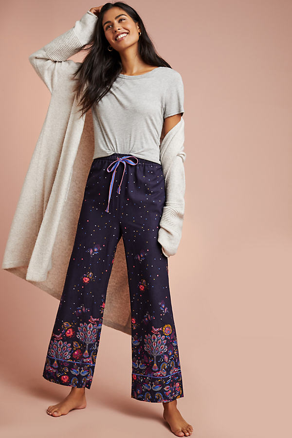 Floreat Festive Flannel Sleep Trousers - Blue, Size Xs