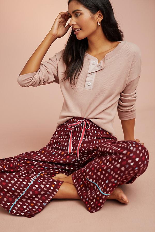 Floreat Festive Flannel Sleep Trousers - Purple, Size L