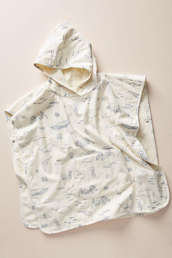 Slide View: 1: Nautical Hooded Poncho