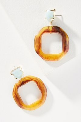 Donna Hooped Drop Earrings by Anthropologie