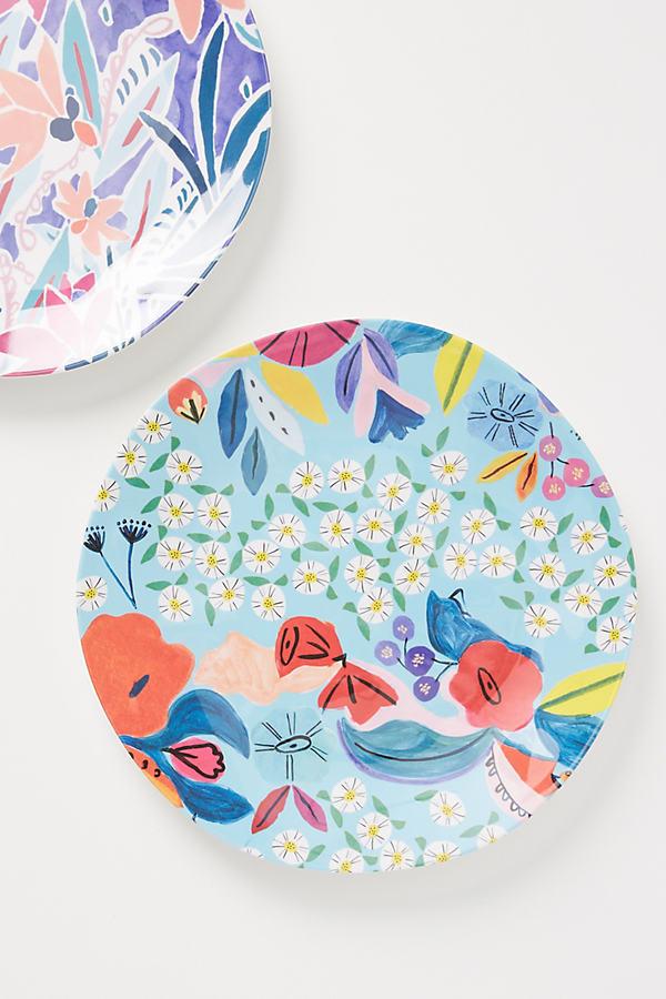 Melamine Alcea Dinner Plate - Blue, Size Dinner