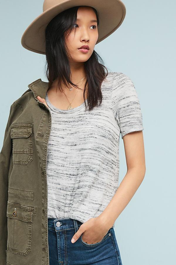 Elle Brushed Fleece Top - Grey, Size S
