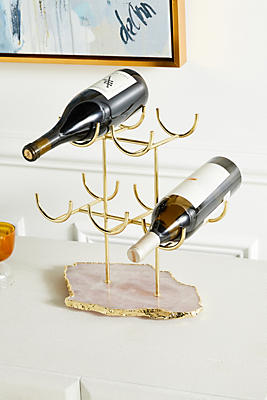 Slide View: 1: Rose Quartz Wine Rack