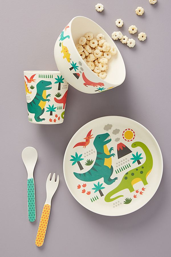 Slide View: 1: Bamboo Kids Dinnerware Set