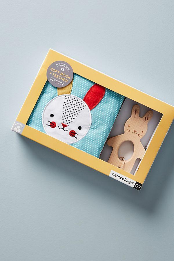 Slide View: 1: Bunny Book + Teether Set