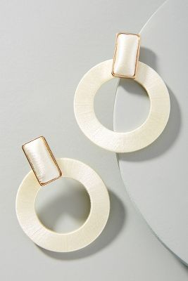 Maria Hooped Post Earrings by Anthropologie