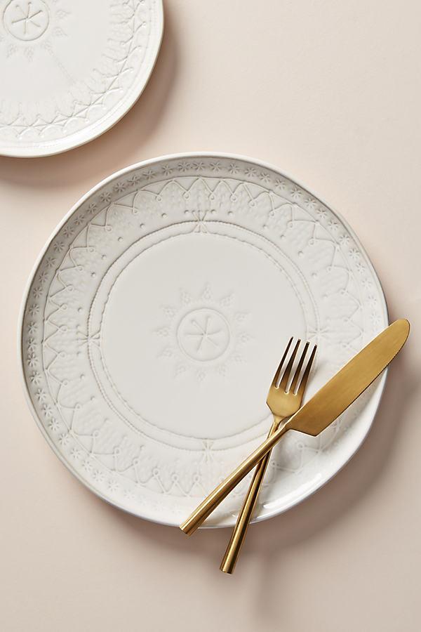 Zizou Dinner Plate - White, Size Dinner