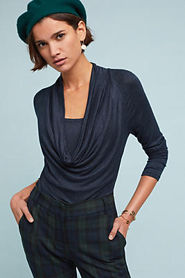 Slide View: 1: Jersey Cowl Neck Top