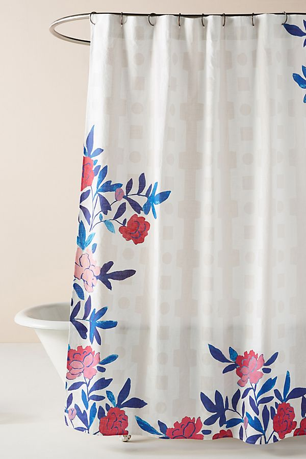Slide View: 1: Paule Marrot Rose Vine Shower Curtain