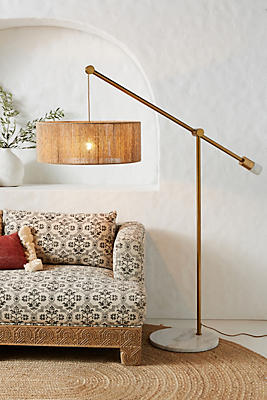 Slide View: 1: Topanga Jute Floor Lamp