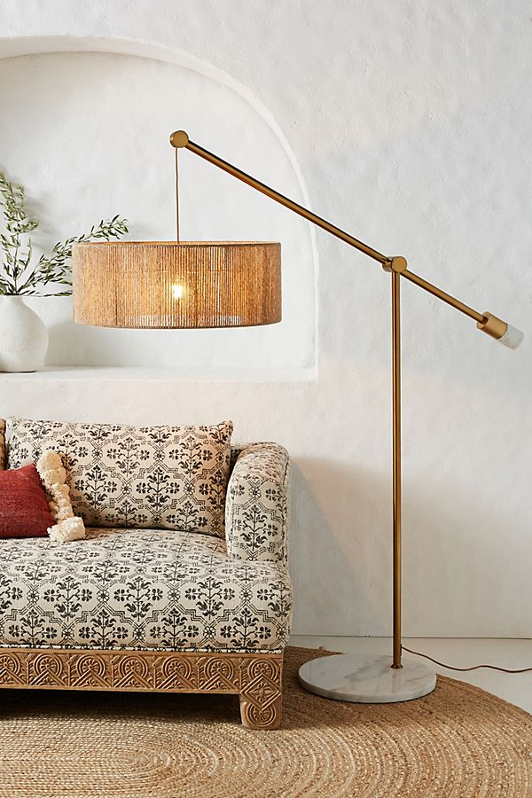 Slide View: 1: Topanga Jute Floor Lamp