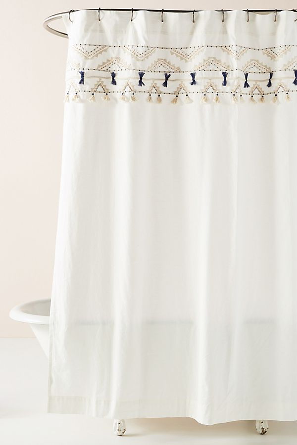 Slide View 1 Vineet Bahl Embroidered Romula Shower Curtain