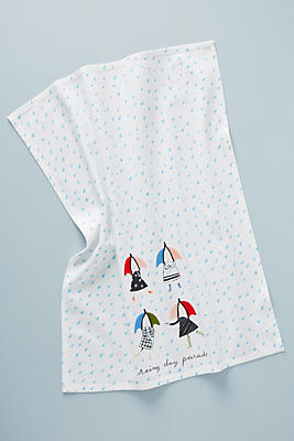 Slide View: 1: Libby VanderPloeg Rainy Day Parade Dish Towel